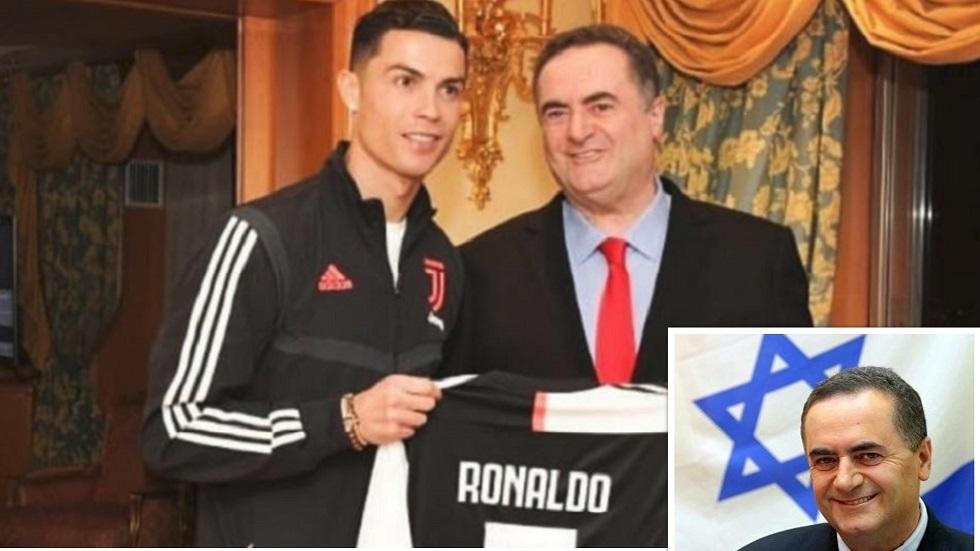 , بالصورة…رونالدو يهدي قميصه لوزير الخارجية الإسرائيلي
